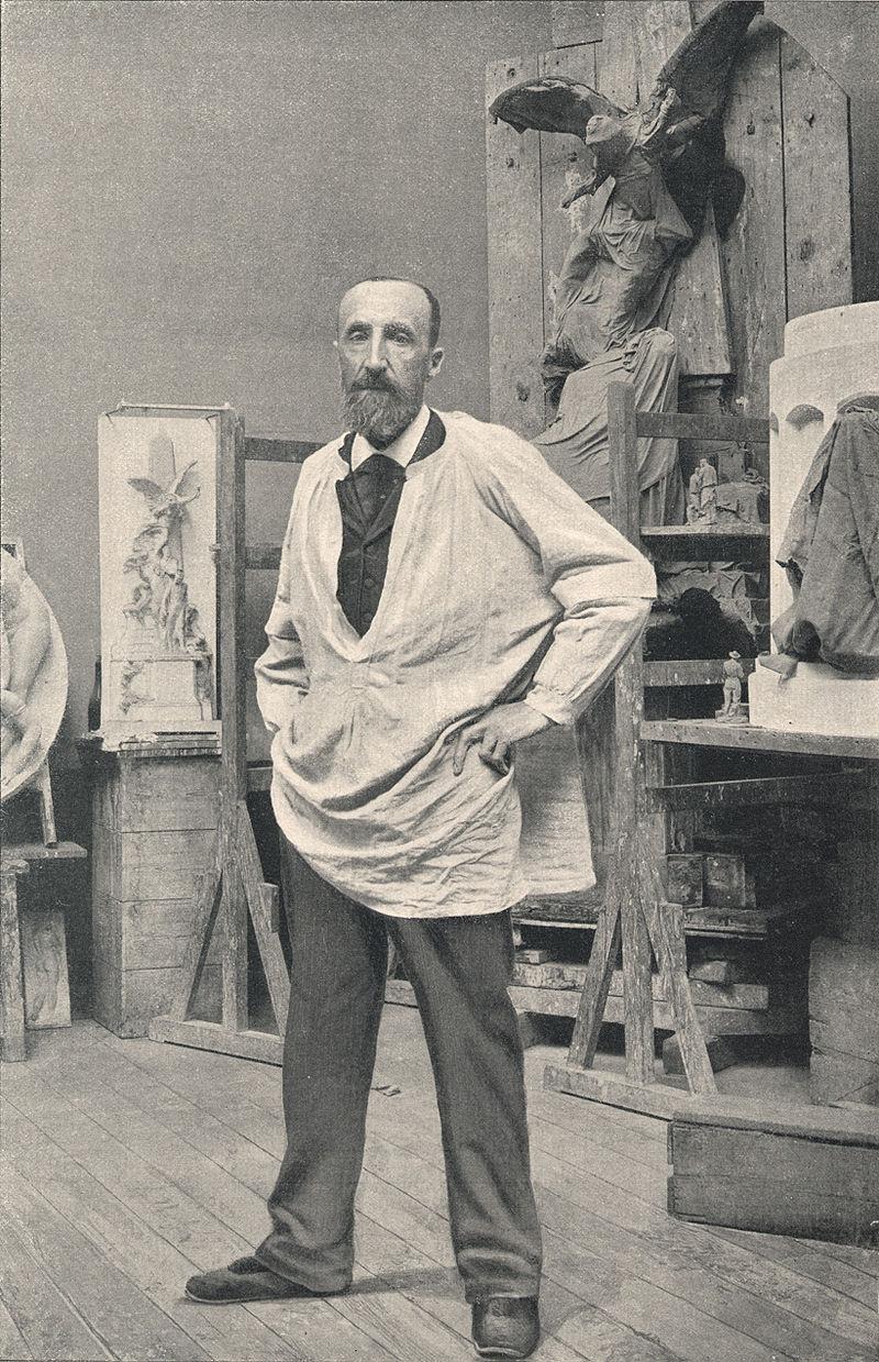 Aimé-Jules Dalou in zijn atelier