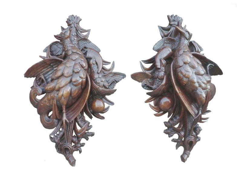 Black Forest jacht snijstukken - NL-Antiques
