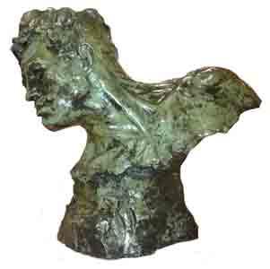 Demanet – Bronzen hoofd - NL Antiques