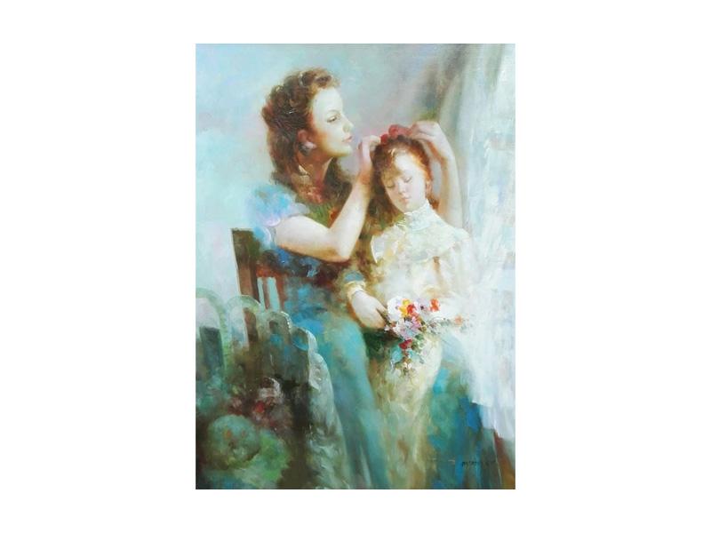 Moeder met kind - gesigneerd Andriessen - NL-Antiques