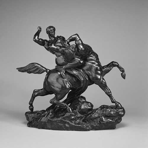 Antoine-Louis Barye: Lapith vecht met een centaur, 1848