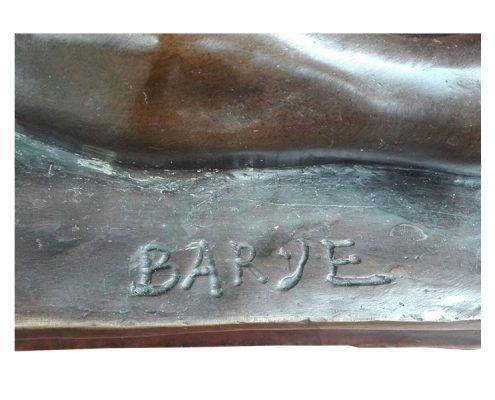 Bronzen leeuw - gesigneerd Barye