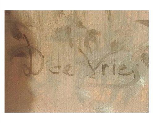 Dick de Vries - Handtekening - Paarden - NL-Antiques