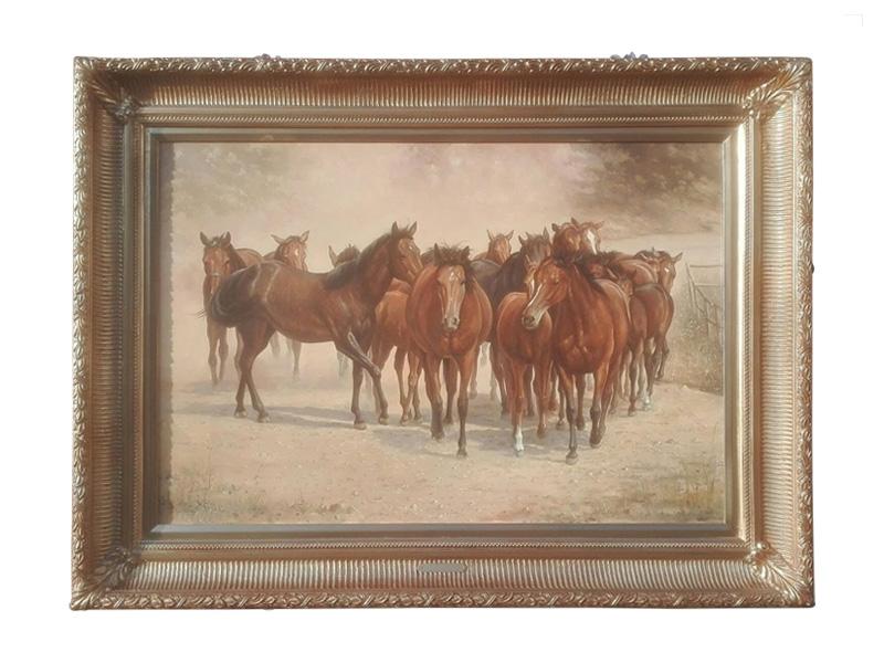 Dick de Vries - Paarden - NL-Antiques