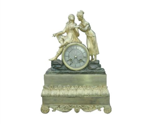 Pendule - schrijver en muze - NL-Antiques