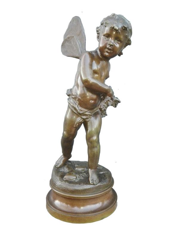 Engel - gesigneerd Emile François Rousseau - NL-Antiques