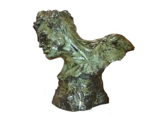 Victor Demanet - Bronzen hoofd - NL-Antiques