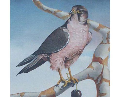 Wim Mast de Gooijer - Woestijnlandschap met adelaar - NL-Antiques