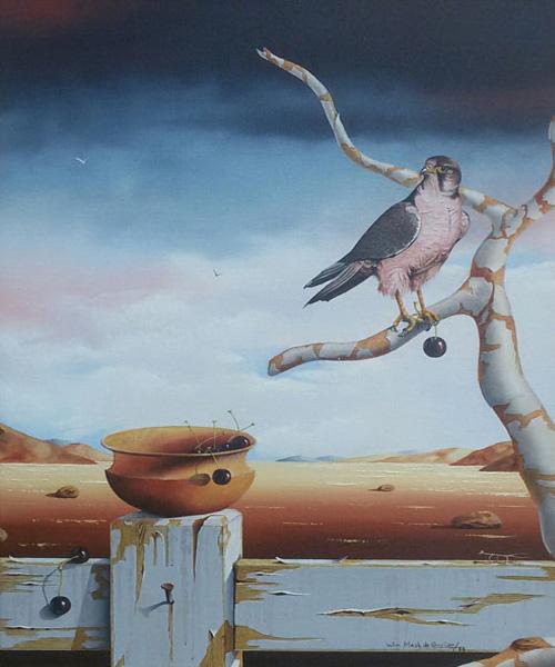 Wim Mast de Gooijer – Woestijnlandschap met adelaar