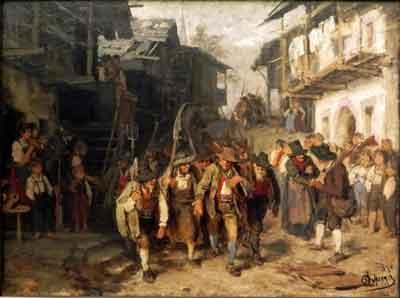 Defregger, - Das letzte Aufgebot, (1872)