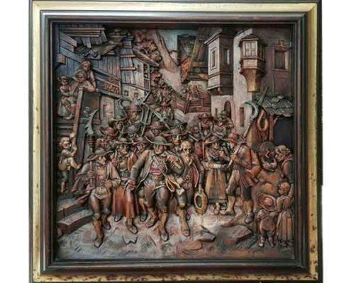 Paneel 'Het laatste contingent' naar afbeelding Franz von Derfregger