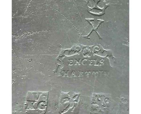 Mahoniehouten klapbuffet - Bufet mahagony - Tin stempel - Tin mark
