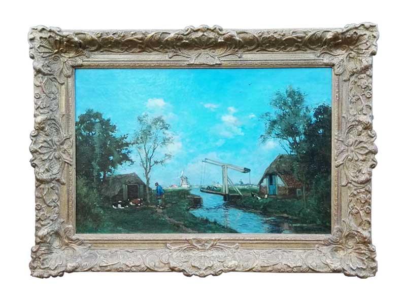 B. Brouwer - Drwbridge - NL Antiques