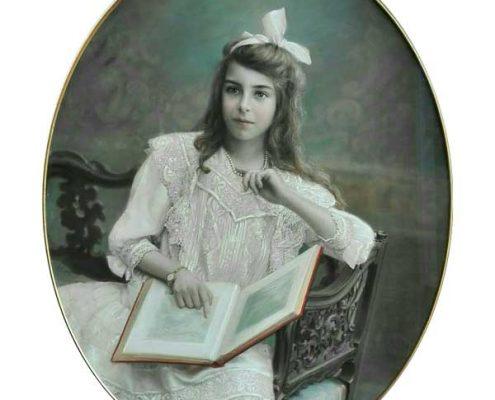 Salamon Garf - Meisje leest boek (dochter van Garf) - NL Antiques