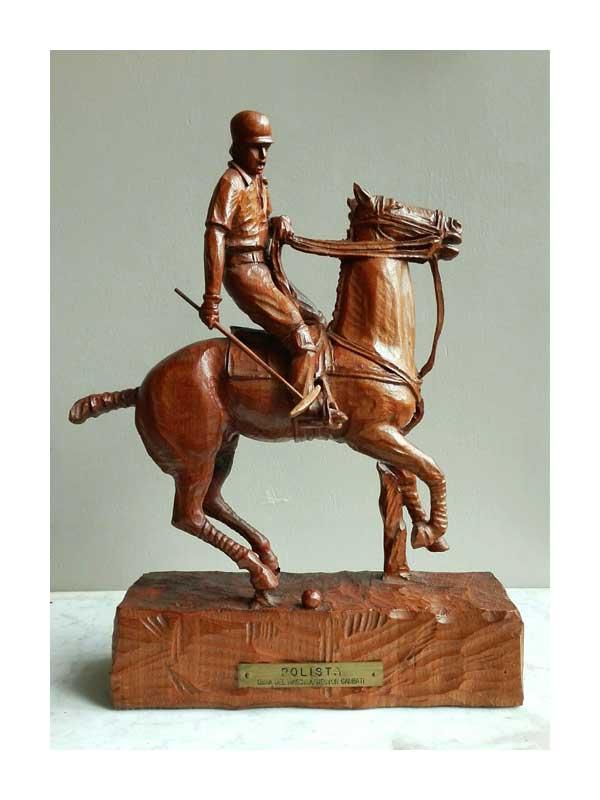 Hector Garbati - Polospeler op paard - NL Antiques