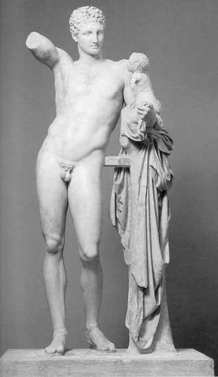 Praxiteles' Hermes met de kleine Dionusos