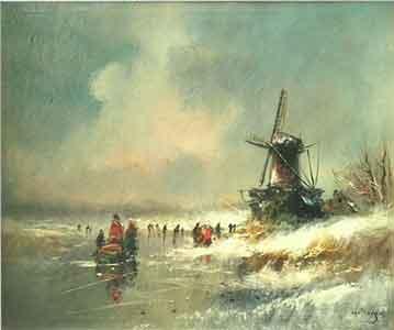 Van Dongen (gesigneerd) – IJsgezicht - NL Antiques