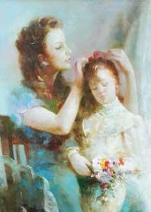 Moeder met kind – gesigneerd Andriessen - NL Antiques