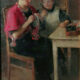 Exclusief groot schilderijMoeder en dochter, Van Deventer