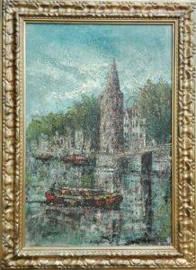 montelbaanstoren, Amsterdam, schilderij, jan korthals