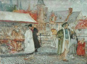 studie Charles Boomvan markt in Hoogstraten, stadsgezicht