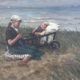 Met zusje aan het strand