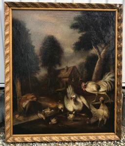 Zeldzaam-schilderij-kippen