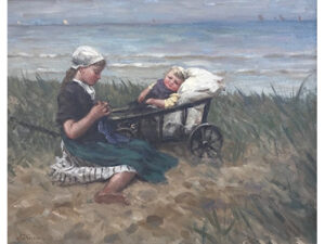 Anton van Karssen - Met zusje aan het strand