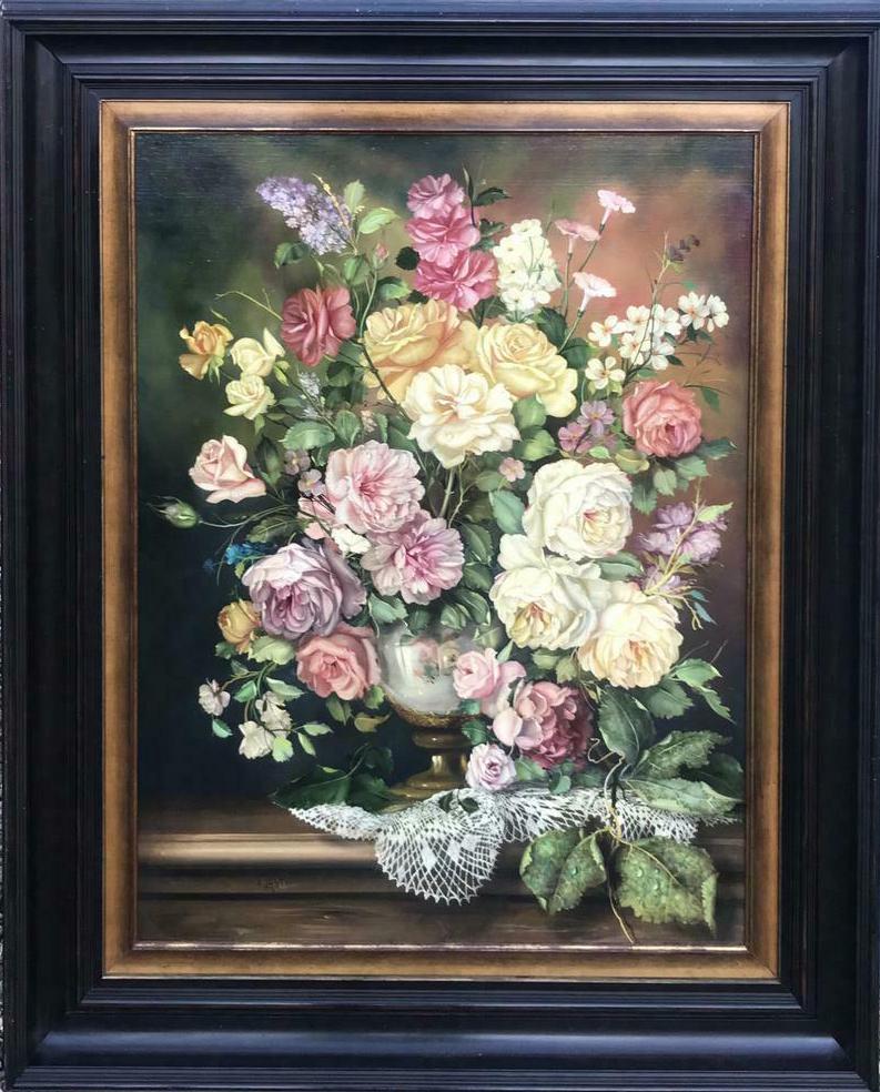 Groot bloemstilleven, super kwaliteit!! J Furst(1947)