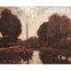 Landschap met trekschuit. Willem Roelofs (1822-1897)
