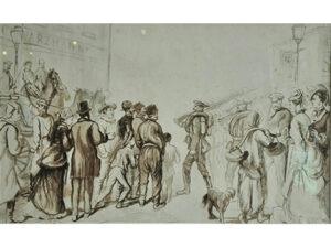 Parade van soldaten naar het front