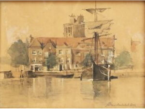 Stadsgezicht Dordrecht. J.H van Mastenbroek